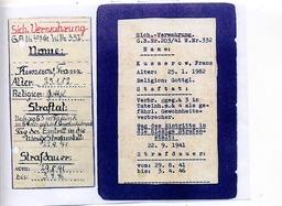 Die Zelle von Franz Kusserow im Zuchthaus Kassel wurde mit dieser Aufschrift versehen. Jehovas Zeugen, Archiv Zentraleuropa