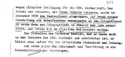 Bericht der Gestapo über Karl Heinz (S. 2). Jehovas Zeugen, Archiv Zentraleuropa