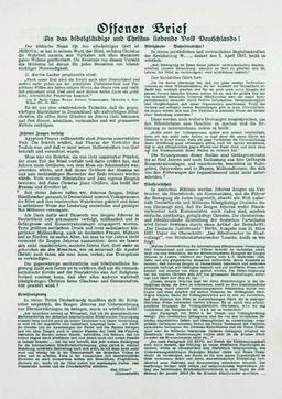 An der Verteilung des Offenen Briefes beteiligte sich die ganze Familie Kusserow am 20.Juni 1937 (S. 1). Jehovas Zeugen, Archiv Zentraleuropa