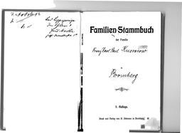 Familien-Stammbuch der Familie Franz Kusserow. Jehovas Zeugen, Archiv Zentraleuropa
