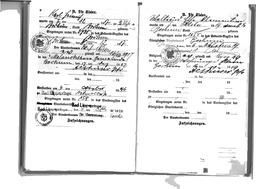 Familien-Stammbuch der Familie Kusserow, S. 8: Eintrag der Geburt des Sohnes Karl Heinz am 7. Dezember 1917 in Bochum; S. 9: Eintrag der Geburt der Tochter Waltraud am 5. Oktober 1919 in Bochum. Jehovas Zeugen, Archiv Zentraleuropa