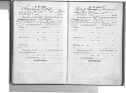 Familien-Stammbuch der Familie Kusserow, S. 12: Eintrag der Geburt der Tochter Magdalena am 23. Januar 1924 in Bochum; S. 13: Eintrag der Geburt der Tochter Elisabeth am 16. April 1925 in Bochum. Jehovas Zeugen, Archiv Zentraleuropa