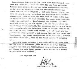 Wilhelms Anwalt, Herr Dr. Rohr schrieb am 17.April 1940, kurz vor dessen Hinrichtung, einen Brief an Wilhelms Mutter mit der Bitte, sie solle ihren Sohn umstimmen (S. 2). Jehovas Zeugen, Archiv Zentraleuropa