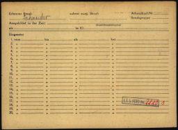 Häftlingspersonalkarte des Konzentrationslagers Buchenwald für Siegfried Meyer, Seite 3