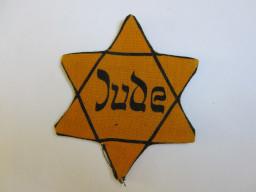 Der Stern, den Paula Naumann zwangsweise an ihrer Kleidung tragen musste